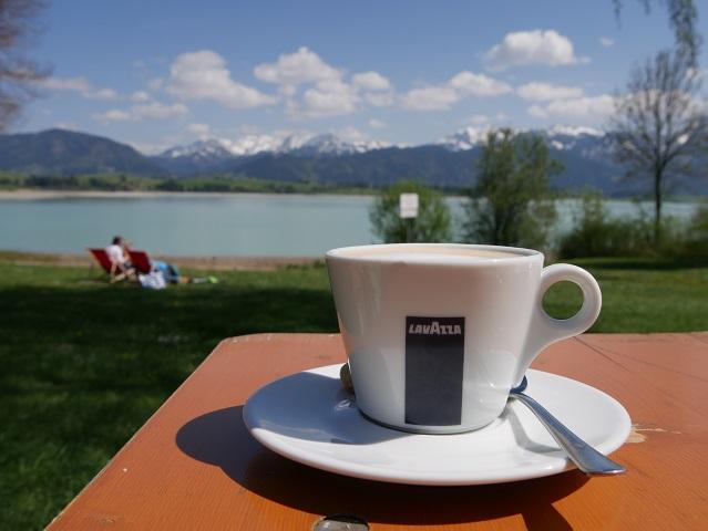 Kaffeepause auf der Radtour Kaufbeuren - Zur SeeLust