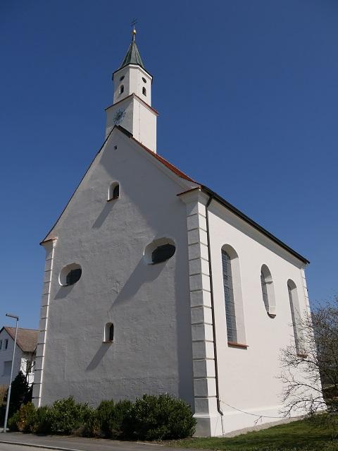 Kapelle St Rasso in Untergammenried - Außenansicht