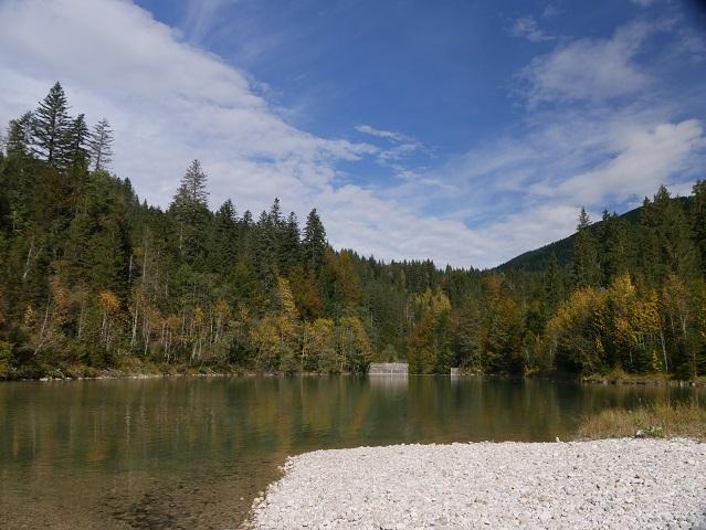 der untere Lobentalbach-Stausee