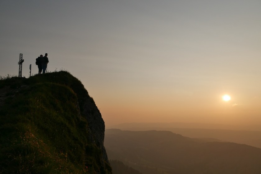 Sonnenuntergang auf dem Hochgrat bei Steibis
