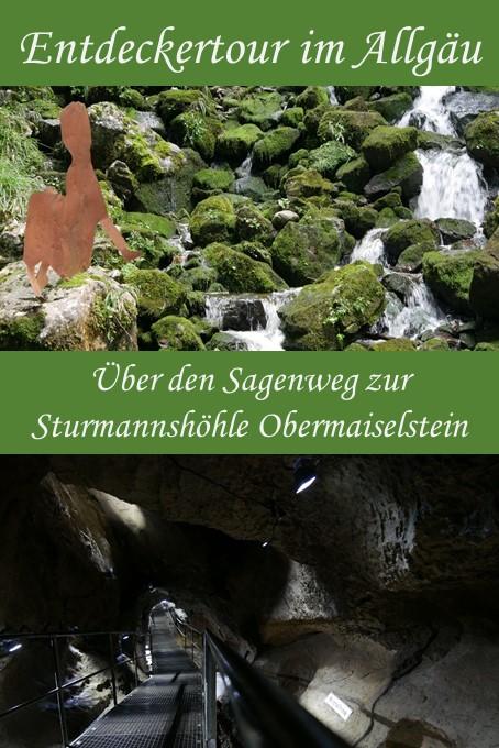 Wanderung über den Sagenweg zur Besichtigung der Sturmannshöhle in Obermaiselstein im Oberallgäu