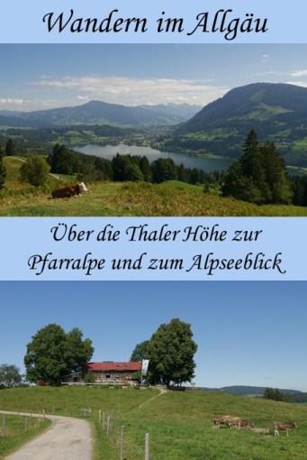 Wanderung über die Thaler Höhe zur Pfarralpe und zum Alpseeblick