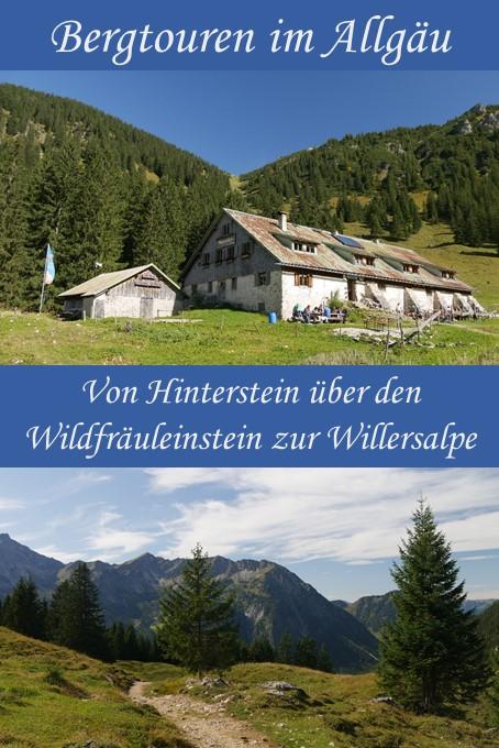 Wanderung von Hinterstein zur Willersalpe über den Zipfelsfall und den Wildfräuleeinstein
