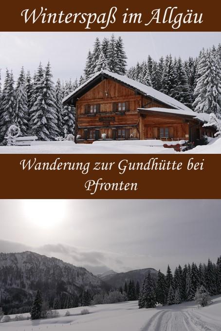Winterwanderung zur Gundhütte bei Pfronten im Allgäu