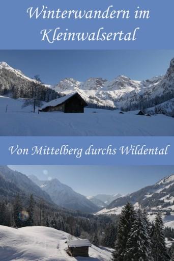 Winterwanderung im Kleinwalsertal - von Mittelberg durchs Wildental