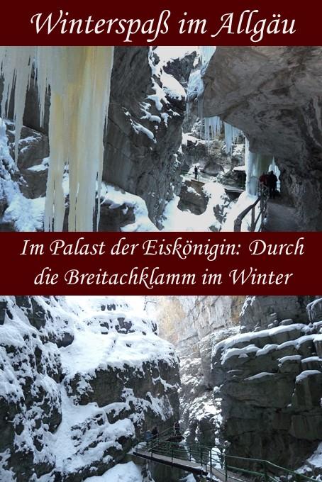 Winterwanderung durch die Breitachklamm bei Oberstdorf