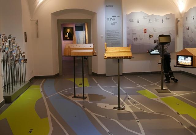 begehbarer Stadtplan im Kempten-Museum