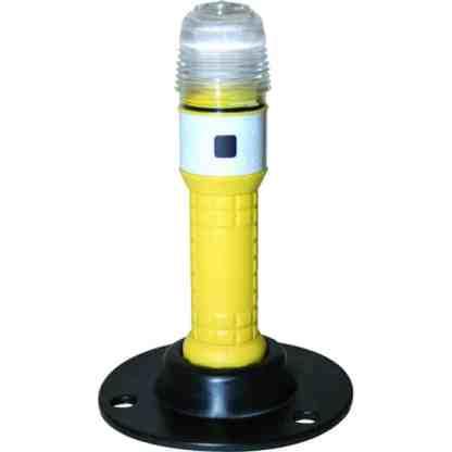 Rundum-LED-Warnblitzleuchte mit Bodenplatte
