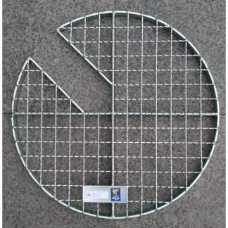 Abdeckgitter für Kanalschächte mit 12 cm Ausschnitt