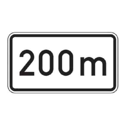 nach 200 m - Verkehrszeichen nach StVO