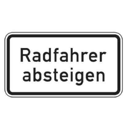 Radfahrer absteigen - Verkehrszeichen nach StVO