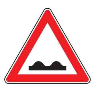 Unebene Fahrbahn - Verkehrszeichen nach StVO