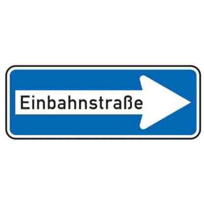 Einbahnstraße rechtsweisend – Verkehrszeichen nach StVO