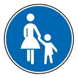Sonderweg Fußgänger - Verkehrszeichen nach StVO
