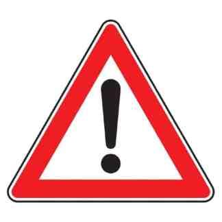 Gefahrenstelle - Verkehrszeichen nach StVO