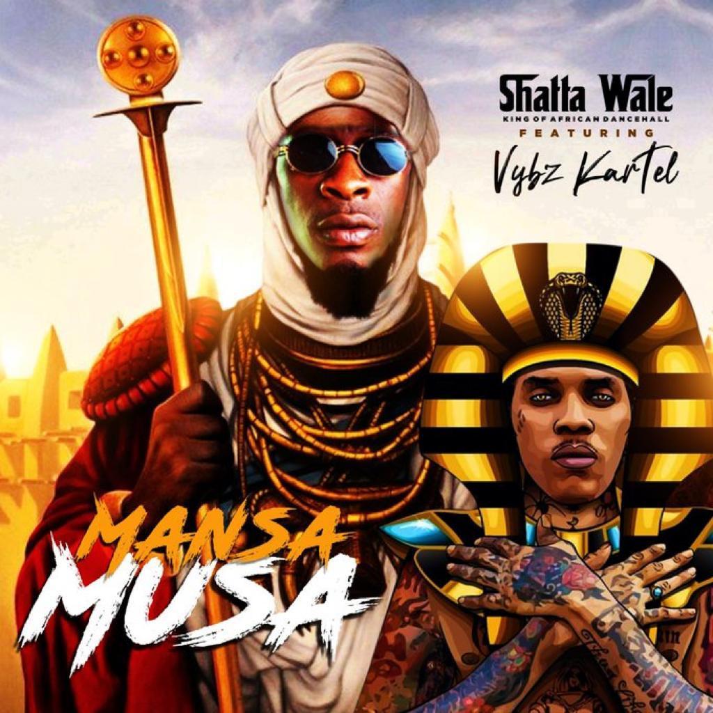 Dancehall king Shatta Wale, the boss of Shatta Movement, finally features top Jamaican Dancehall god, the king of the Gaza empire, Vybz Kartel.