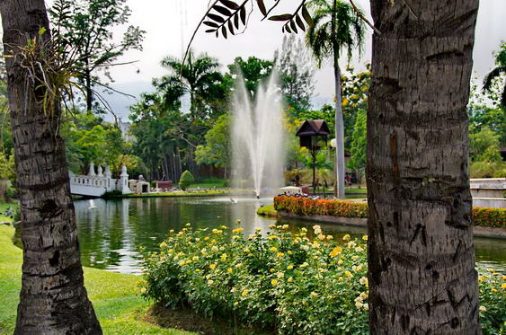 Chiang Mai City Park Pond and Fountains