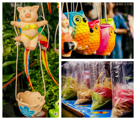 Taling Chan Floating Market colorful
