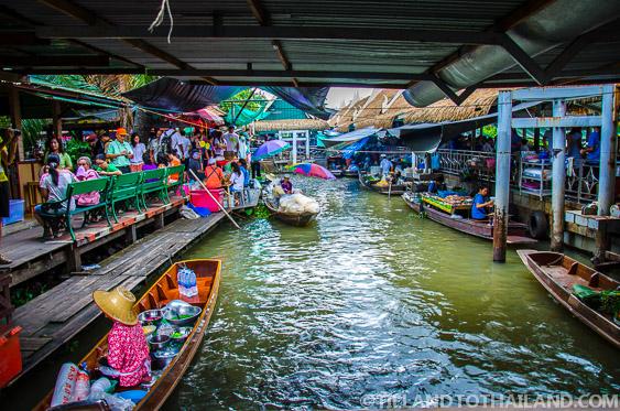 Taling Chan Floating Market Pontoons