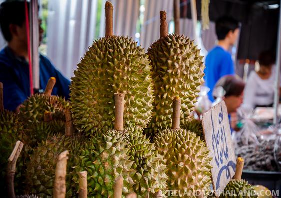 Taling Chan Floating Market Durian Fruit