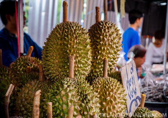 Taling Chan Floating Market Durian Fruit
