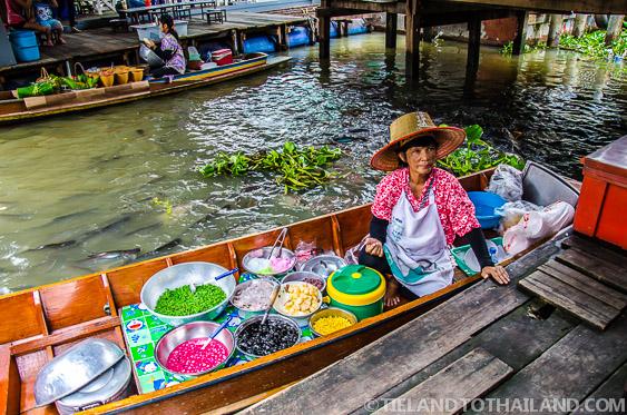 Taling Chan Floating Market Boat Vendor