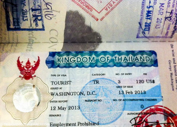 The Requirements for Thai tourist visas