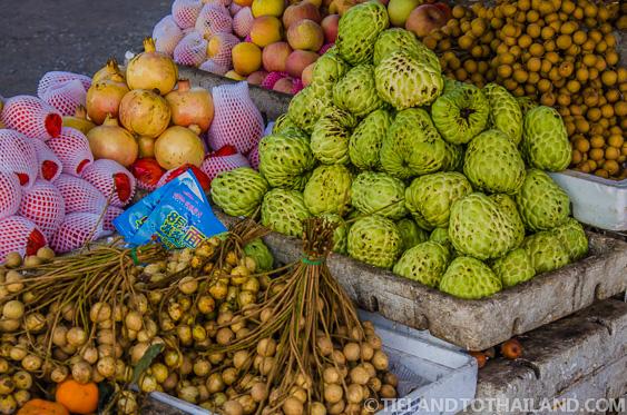 Thai Fruit Longan Ban Khlong Luek Border Market