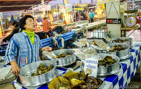 Energetic Thai Woman Selling Food