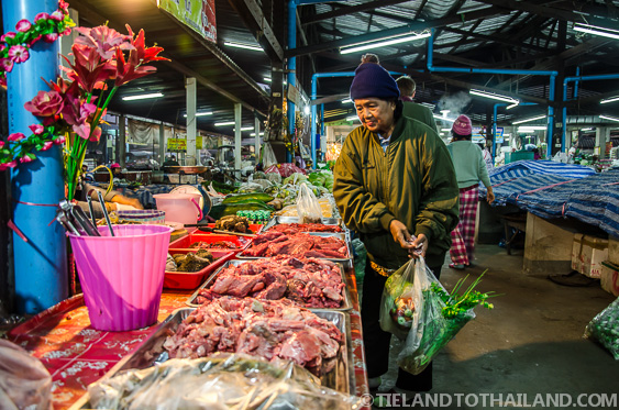 Old Thai Woman Shopping