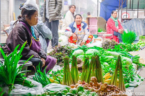 Curious Local Thai People at the Market