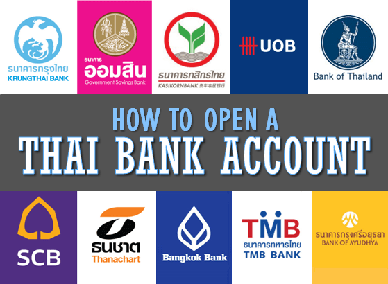 how to open a thai bank account tieland to thailand