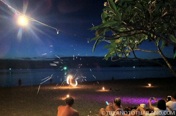 Nature Beach Resort Fire Show
