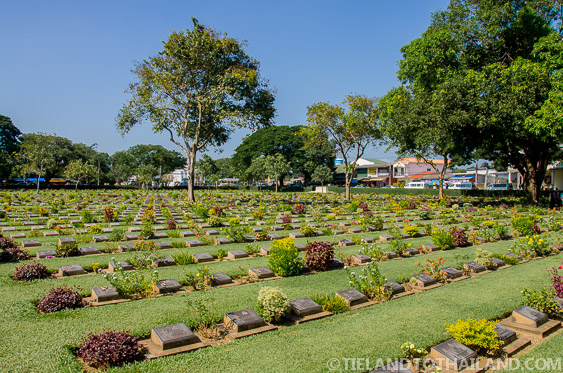 Kanchanaburi War Cemetery is home to over 7,000 soldiers