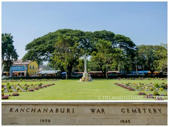 Kanchanaburi War Cemetery is a stop allow the Death Railway tour