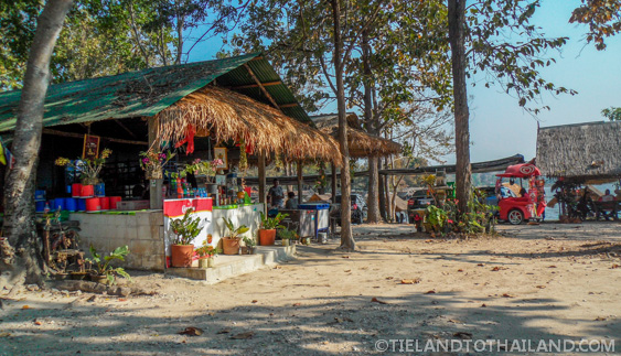 Basic Thai restaurant along the lake