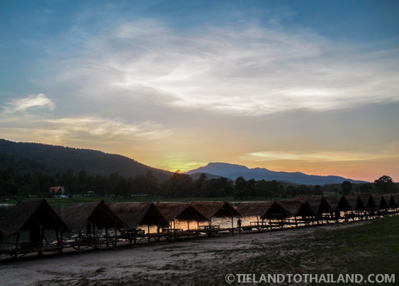 Sunset at Huay Tung Tao Lake in Chiang Mai, Thailand