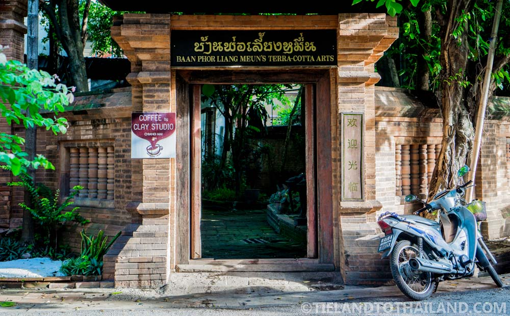 Entrance way to the Terracotta Arts Garden in Chiang Mai
