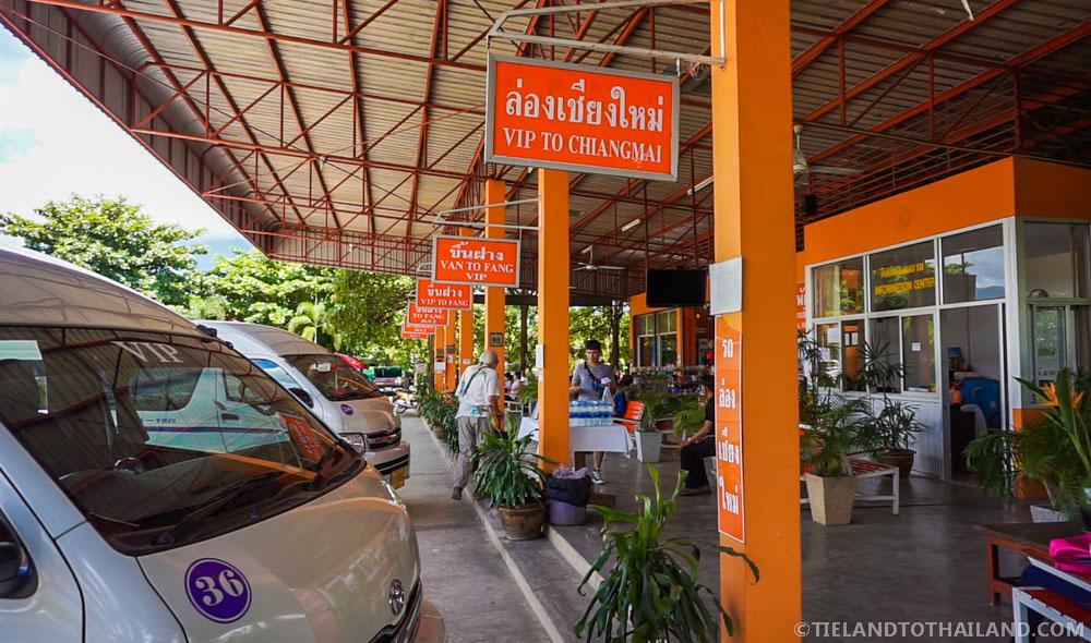 Bright orange Chiang Dao Bus Station
