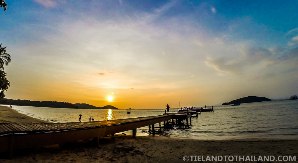 Sunset from Ao Suan Yai, Koh Mak, Thailand
