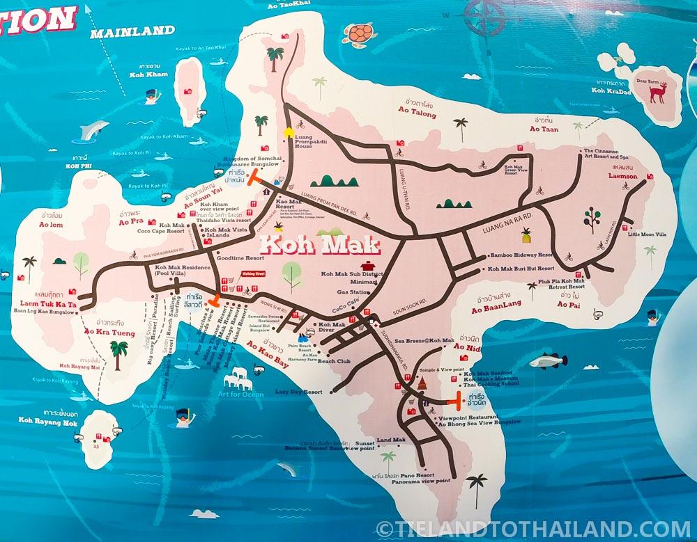 Koh Mak map