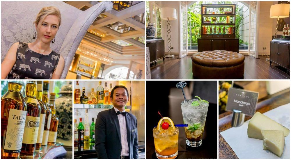 Sapphire Bar in The Sukosol, a luxury hotel in Bangkok