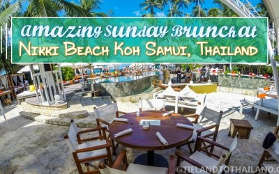 Amazing Sunday Brunch at Nikki Beach Koh Samui