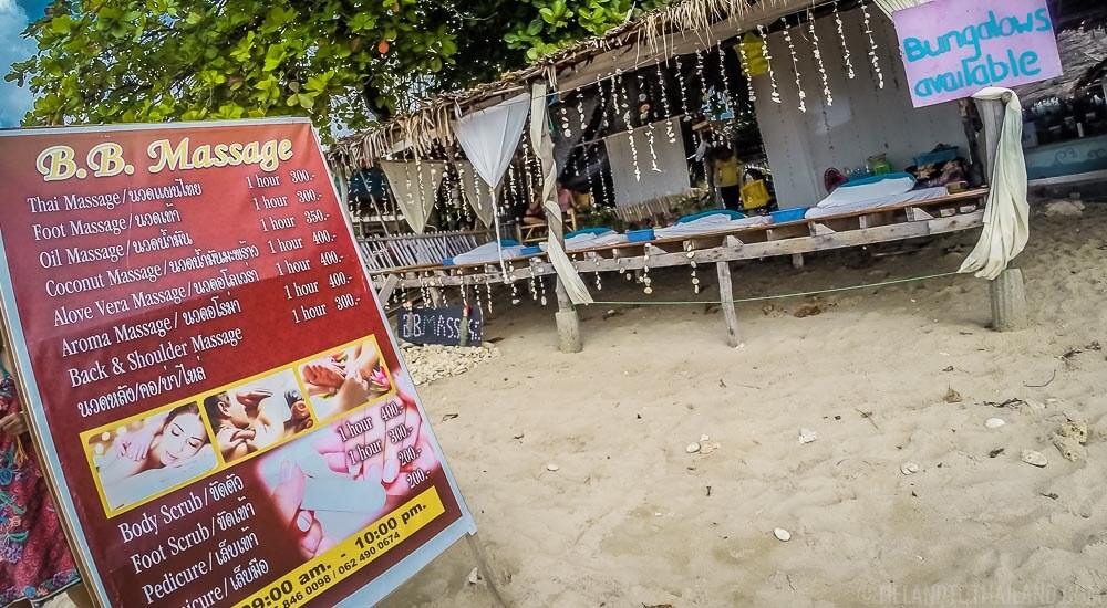 Beach massage on Koh Lanta, Thailand