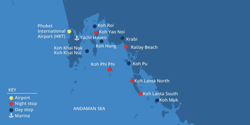 Yacht Week Thailand Route
