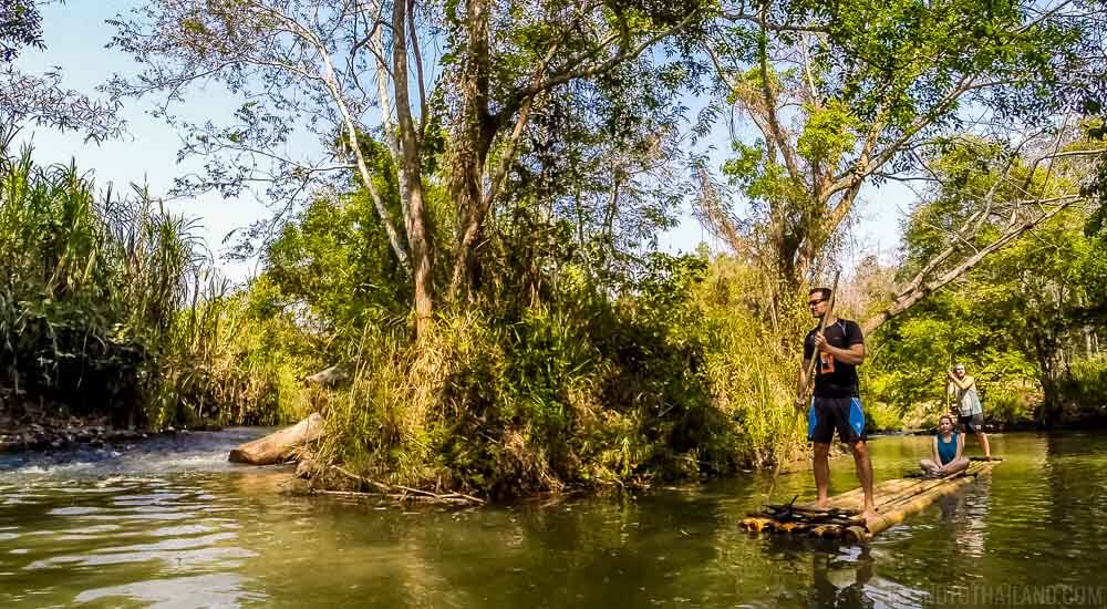 Bamboo Rafting in Chiang Mai down the Mae Wang