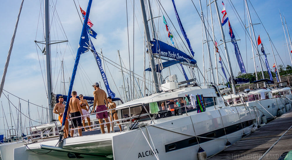 Pierside during The Yacht Week Thailand