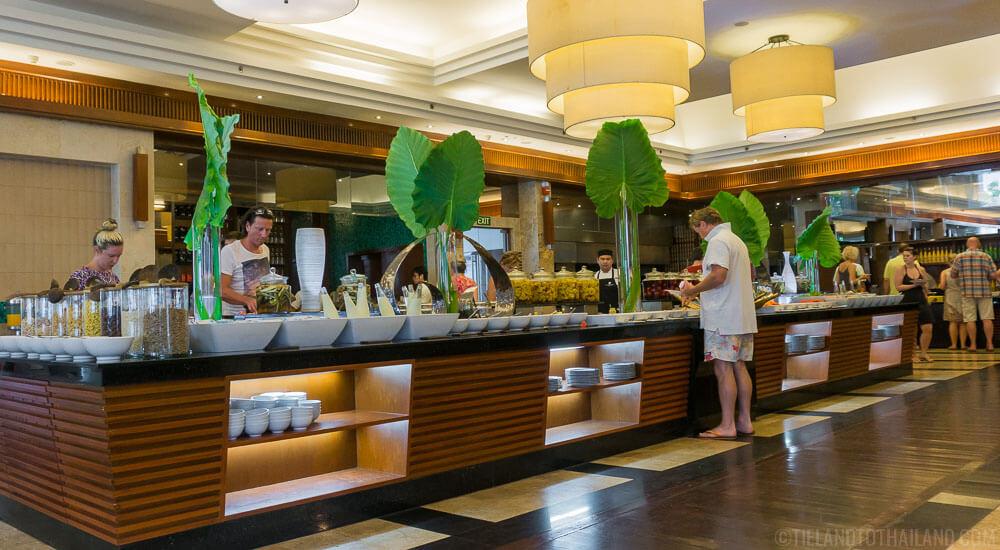 JW Marriott Khao Lak Waterfront brunch options