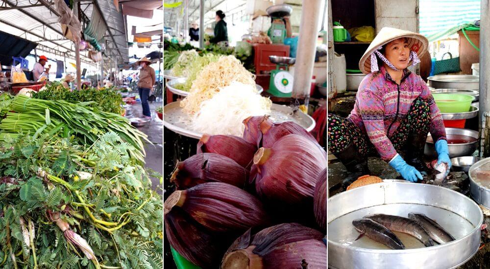 Morning market in Sa Ðéc Vietnam
