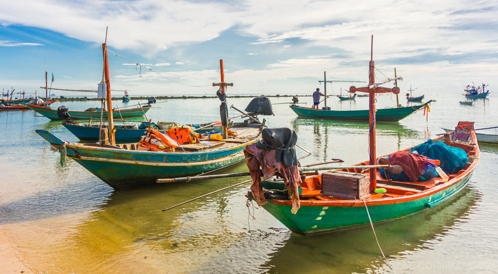 Hop on a longtail boat to get to Koh Khai from the shores of Chumphon, Thailand